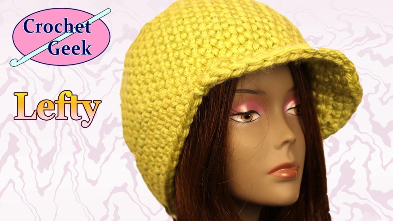Left Hand Chunky Yarn Crochet Beanie Cap YouTube Crochet Geek