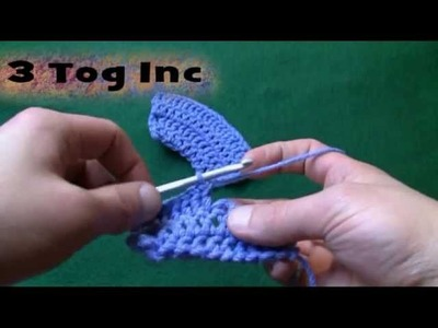 Left Hand: Crochet 2 Tog Increase Stitch