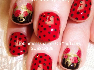 Nail Art for Short Nails - DIY Red Rose Design Tutorial