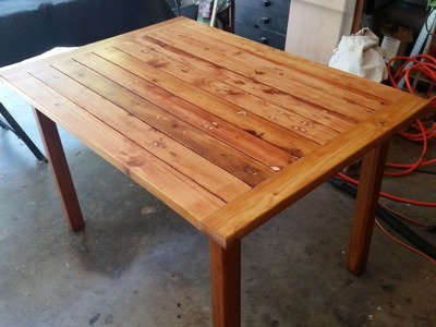 Rustic table made from scrap wood, great patio table, easy to make