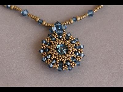 Sidonia's handmade jewelry - Making of the Swarovski rivoli pendant