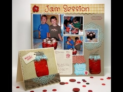 Squishy Card and Scrapbook Page