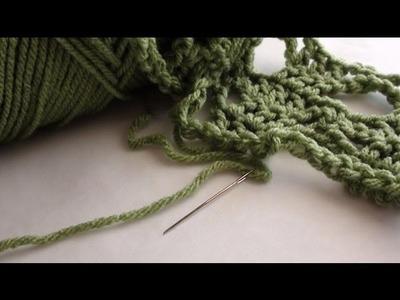 Threading Trouble Yarn through Yarn Needle - Threading Yarn