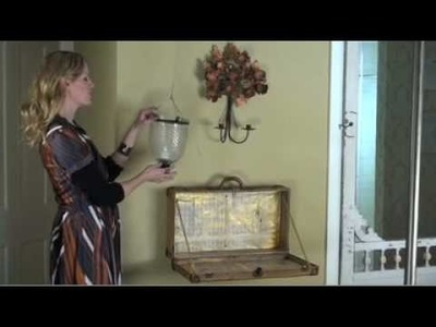 Tracy Porter Decorating DIY: Crafting a vintage suitcase into a charming SHELF!!