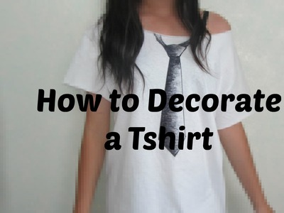 Tutorial: DIY Decorated T shirt