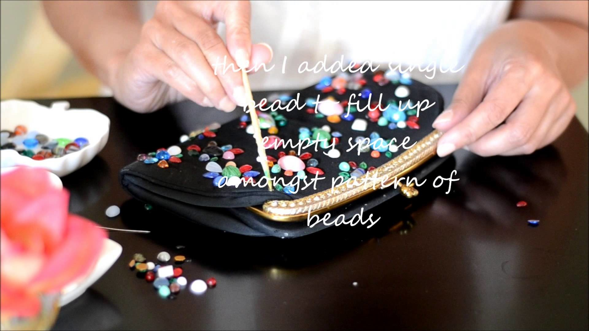 Vintage Glass Beads Clutch Tutorial