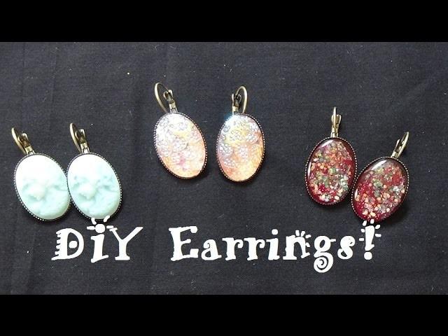 18x25mm DIY Earring Tutorial ft. PandaHall.com Earrings, Cameos & Cabochons!