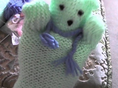 Another knitted Tedy bear hand puppet knitted by ME!!!
