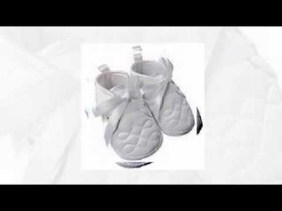 Beautiful White Satin Baby Boys Christening Shoes Booties