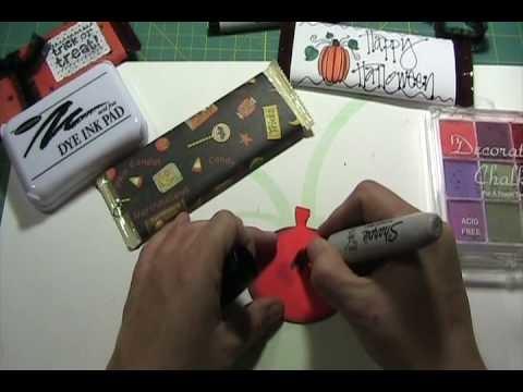 Craft Junkie Too Video #43 Halloween Candy Bar Treats Part 1