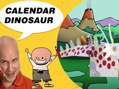 Crafts Ideas for Kids - Calendar Dinosaur | DIY on BoxYourSelf