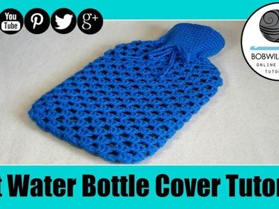 Crochet Hot Water Botter Cover Tutorial