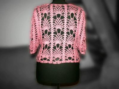 Crochet pink bolero