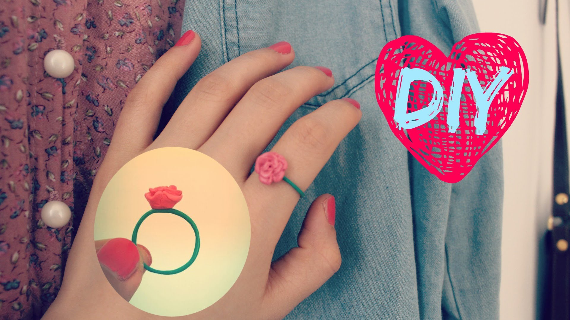 ☞DIY Crafts☜ How to Make a Flower Ring Out of Polymer Clay ⇒ Easy!