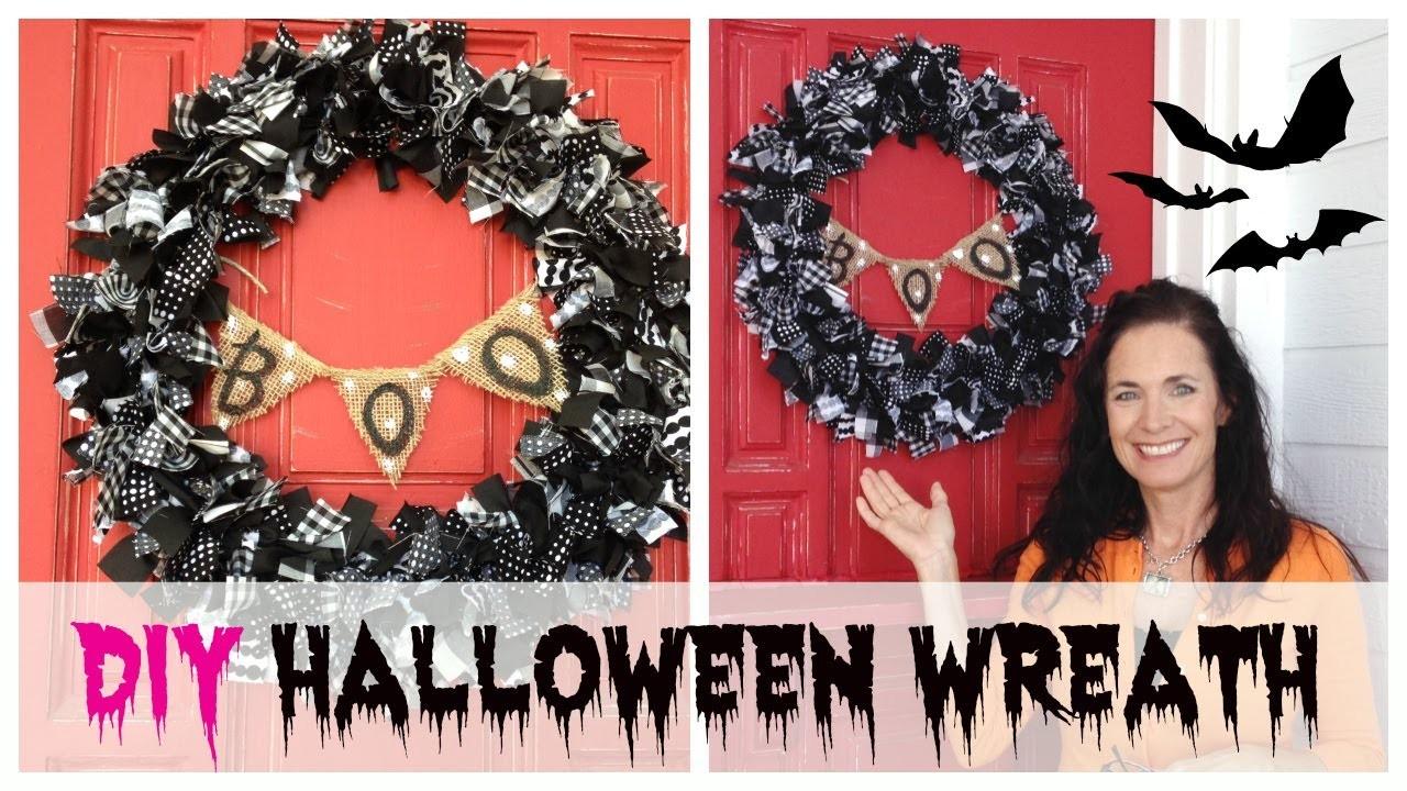 DIY Halloween Wreath Tutorial   by Michele Baratta