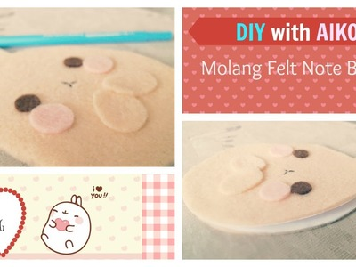 DIY: How To Make A Molang Bunny Felt Notebook Tutorial