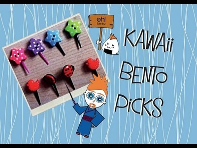 DIY Kawaii Bento Picks or Cake Toppers Tutorial with Oh! Bento UK