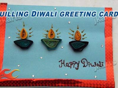 DIY Paper Quilling Diwali Greeting Card - JK Arts 162
