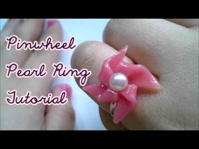 DIY PinWheel Pearl Ring Tutorial
