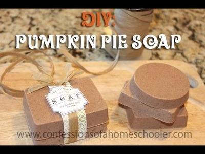 DIY: Pumpkin Pie Soap Tutorial