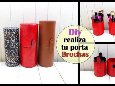 DIY realiza tu porta brochas inspirado brush holder 2 opciones