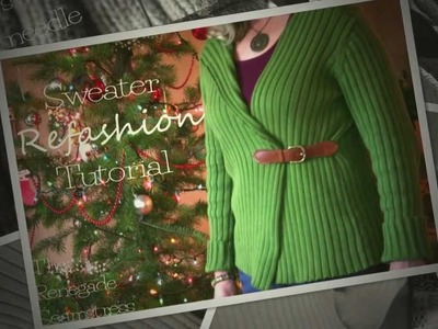 DIY Sweater Refashion Tutorial