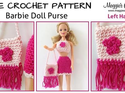 Doll Purse Free Crochet Pattern - Left Handed