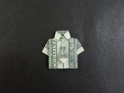 Dollar Origami Tutorial: How to fold a Shirt with Tie