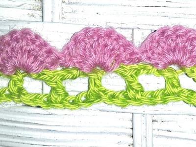 Fan and Filet Crochet Edging