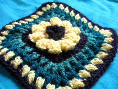 Flower Granny Tutorial - Left Handed Crochet Tutorial