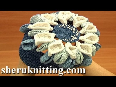 Flower Hat for Girls Tutorial 8 Crochet Hat Designs