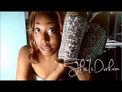 Glitz'd Pearl Wedges  |   DIY Talk Time****