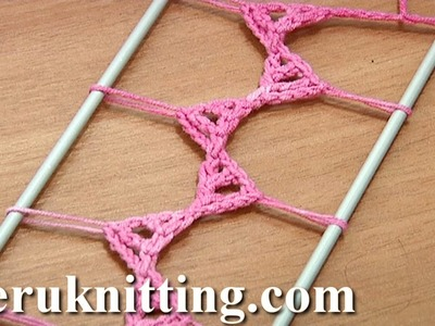 Hairpin Lace Strip Tutorial 20 Triangle Elements In The Middle