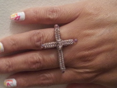 Handmade Jewelry: Herringbone Cross Ring