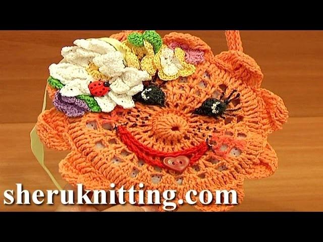 Happy Sun Face Purse.Bag For Kids Crochet Tutorial 9 Part 2 of 2 Easy Crochet Purse Pattern