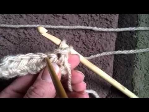 Hooking to Help - Turn and 2nd row HDC (half double crochet