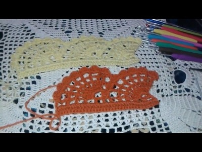 How to: crochet the edges of the fan step by step ( video tutoria )