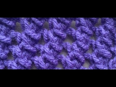 How to Knit the Crow's Foot Stitch by ThePatterfamily