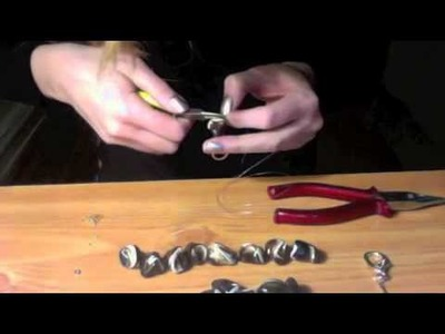 How to make a beautiful necklace. Handmade fashion jewelry.