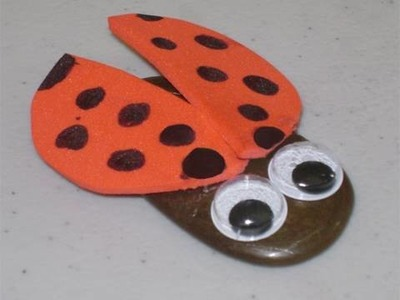 How to make a lady bug. ladybird using a stone - EP