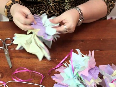 How to Make a Tissue Pom-Pom Baby Mobile : Crafts Around the House