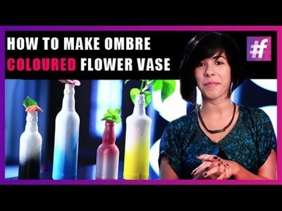 How To Make Ombre Coloured Flower Vase | DIY | Live Creative