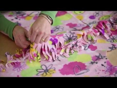 Learn with Jo-Ann how to make no-sew fleece robe