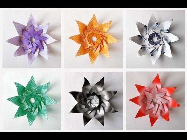 Modular Origami Lily Star -Tutorial
