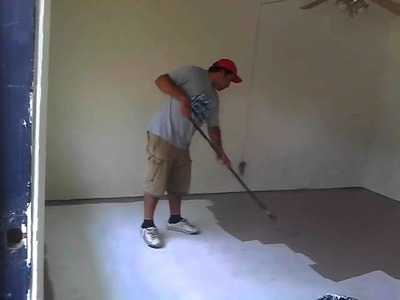 Omg painting the floor