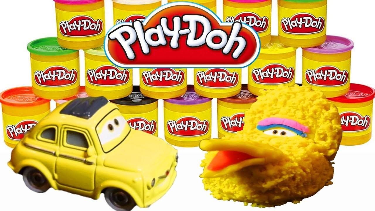 Play-Doh Sesame Street Big Bird Disney Pixar Cars 2 Character Luigi Play Doh DIY Tutorial!