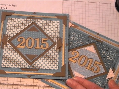 Scrapbook 2015 Title Page Design