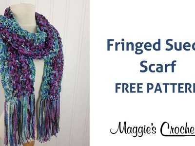 Suede Circles Scarf Free Crochet Pattern - Right Handed