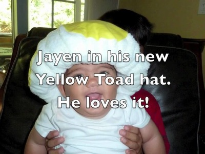 Super Mario Brothers Yellow Toad Hat - How to make an Infant Toad Hat