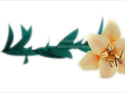 Adding Realism To Your Origami Lily Video Tutorial *HD*
